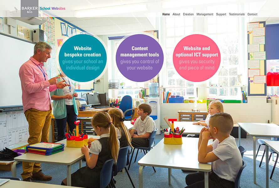 barker school websites UK Website development design for primary schools hounslow london