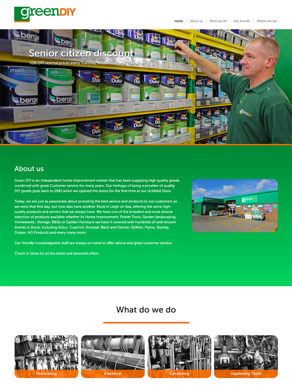 green diy uckfield UK Website development design