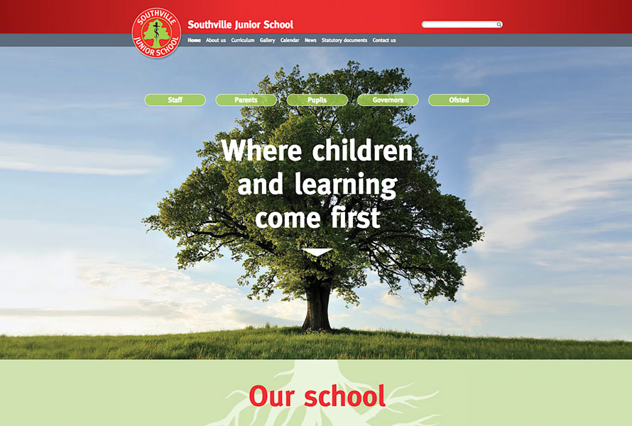Southville Primary School Website design and development London