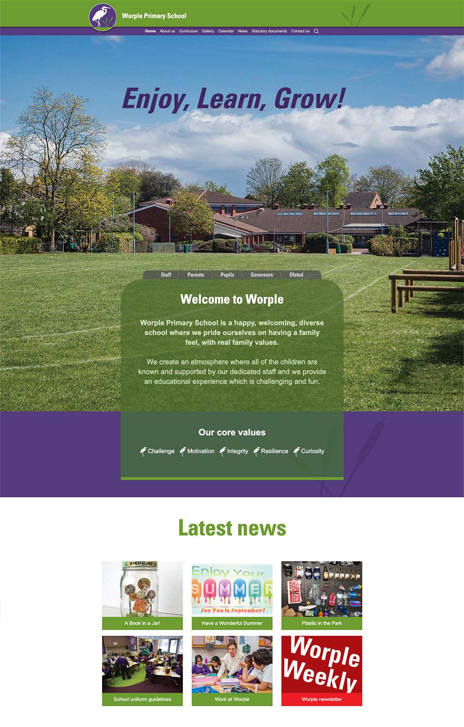 Worple Primary School Website Design Warriors Ltd